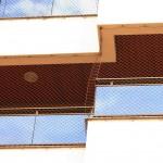 Rede de proteção para sacada de edifícios.